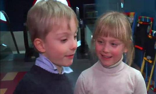 Pepíček a Madla se do školy těší.