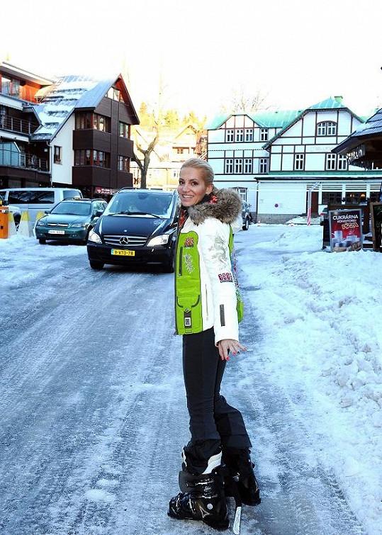 Dara letos poprvé vyrazila do Špindlerova Mlýna.