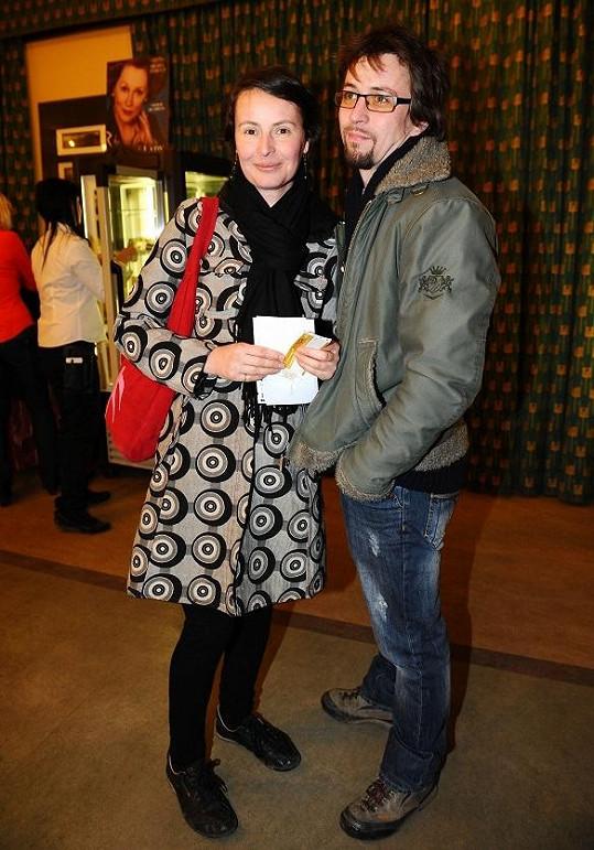 Lenka s partnerem Janem Dolanským.