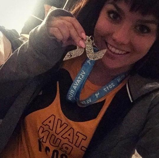 O víkendu zpěvačka překonala samu sebe a uspěla v týmovém běžeckém závodě.