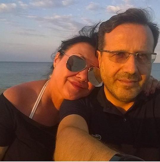 Dáda Patrasová s italským přítelem Vitem, kterého už brzy opět uvidí.