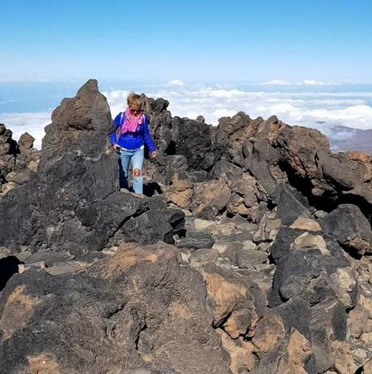 Na Tenerife si udělala i výlet na sopku Pico de Teide.