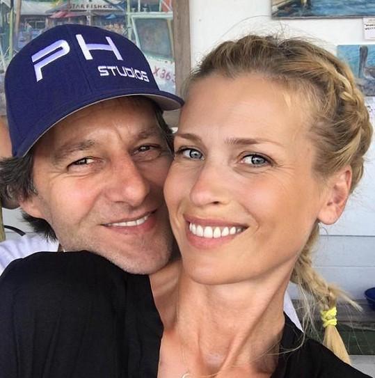 Daniela Peštová s partnerem Pavlem Haberou