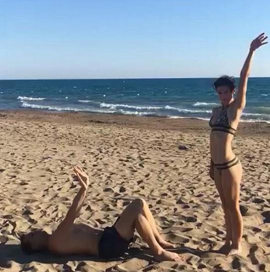 Na pláži bylo veselo.