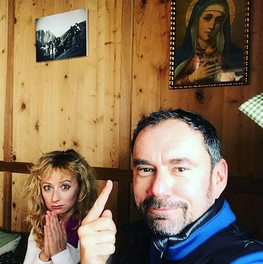 Lucie a Manu zase vyrazili do Itálie na hory.