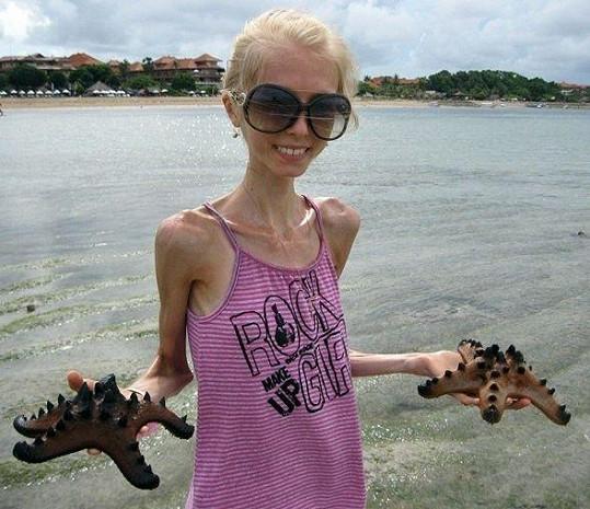 Kseniya na dovolené.