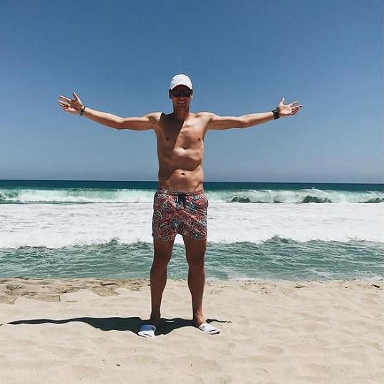 Tomáš Berdych v plavkách