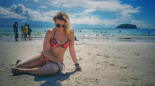 Anna Slováčková se ukázala v plavkách.