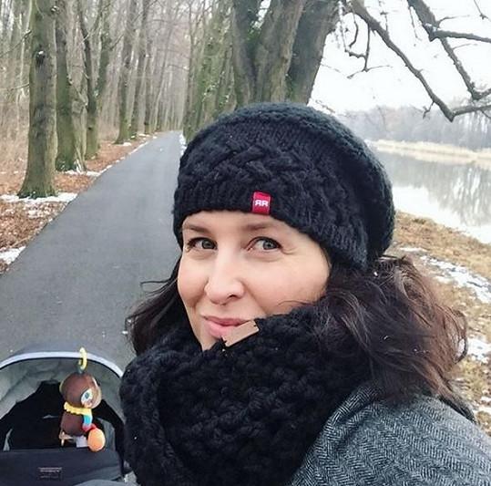 Lucie Šilhánová porodila letos v lednu.