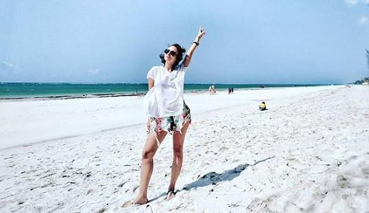 Relax na pláži v Keni