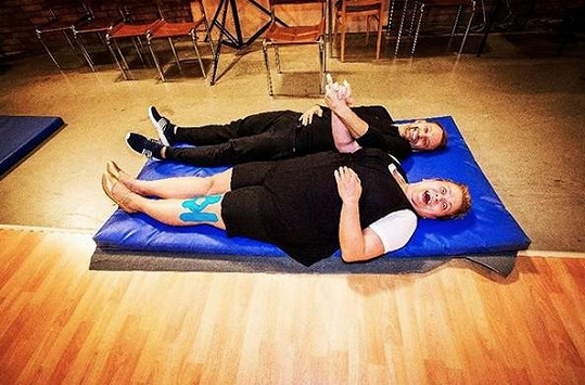 Marek Dědík a Pavla Tomicová trénují slowfox.