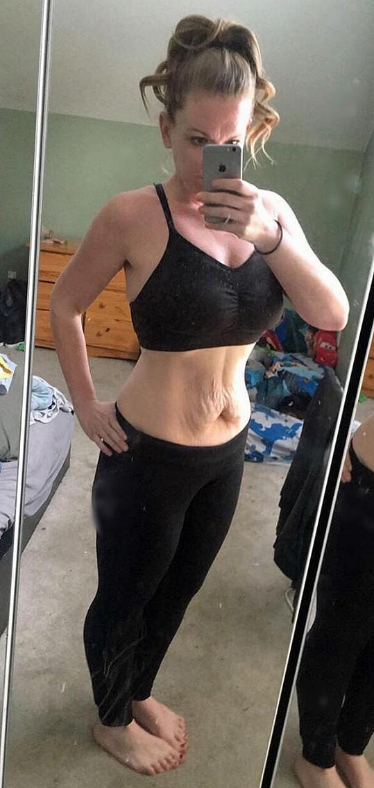 Po dietě a cvičení je z ní jiná žena.