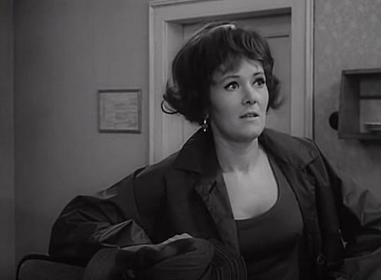 Jako pokojská Miluška z televizní mikrokomedie Bohouš (1968), kterou pravidelně reprízují každý rok na silvestra.