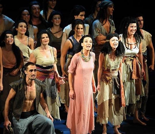 Dasha jako nubijská princezna Aida.