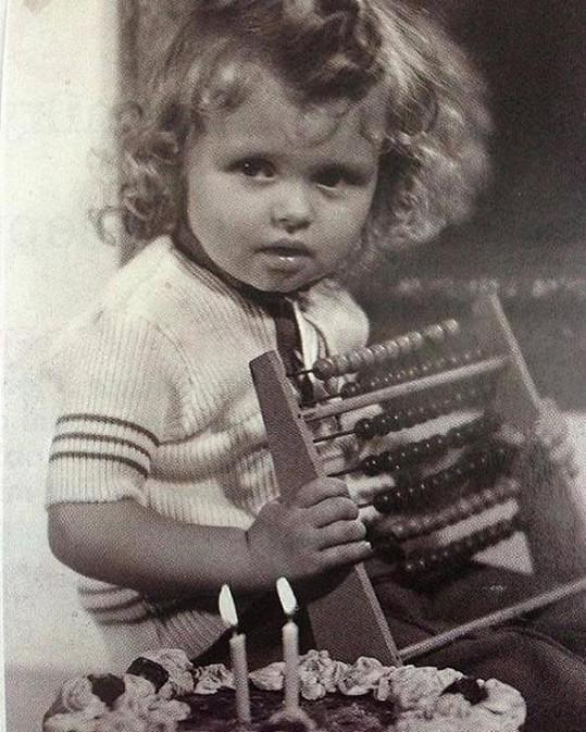 Dana Morávková jako dvouletá holčička