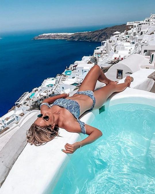 Moderátorka odletěla odpočívat na Santorini.
