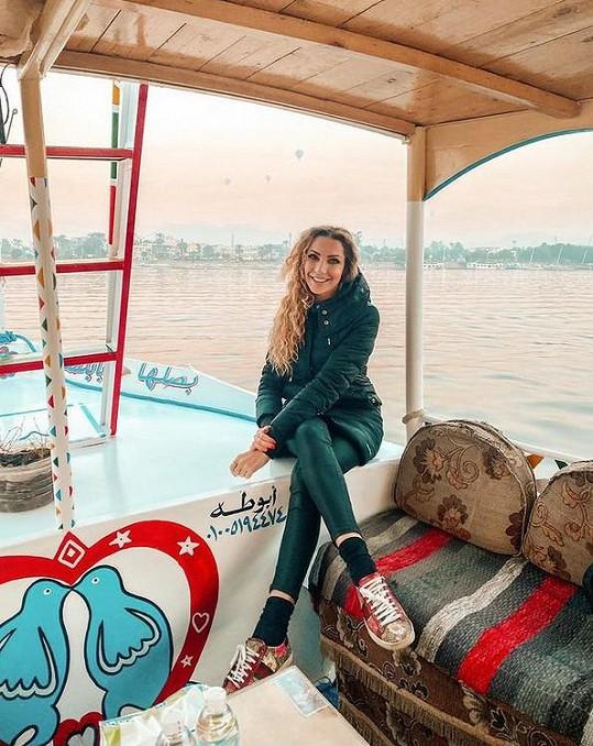 Olga Lounová vyrazila na výlet do Egypta.