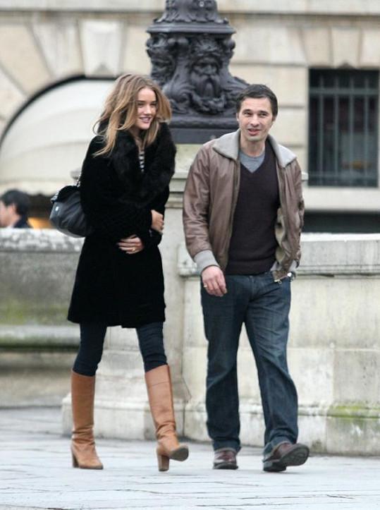 Rosie Huntington s bývalým přítelem Olivierem Martinezem.