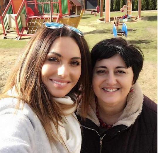 Eliška Bučková s maminkou