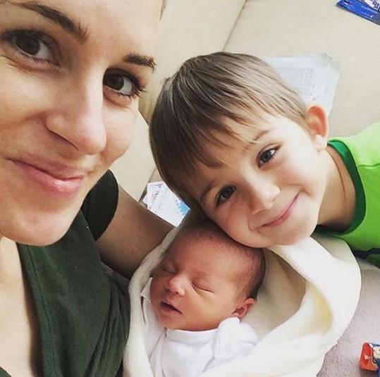 Lucie Křížková se synem Davidem a dcerou Lolou