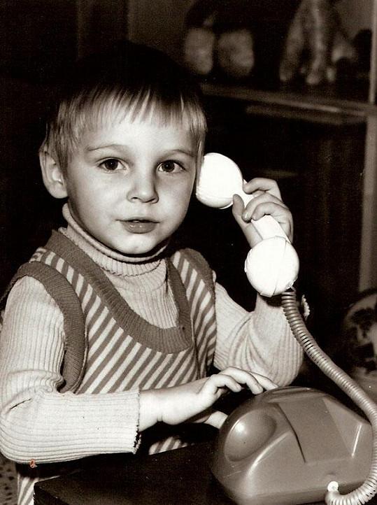 Roman Vojtek byl rozkošný chlapeček.