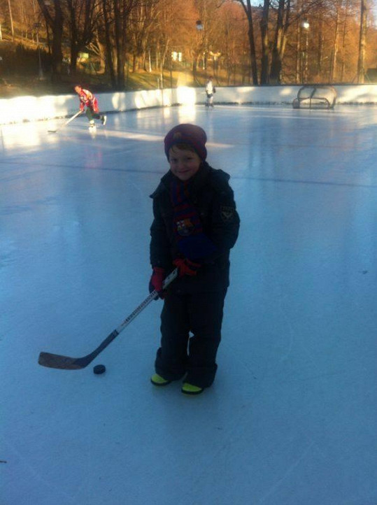Kristian si s hokejkou rozumí.