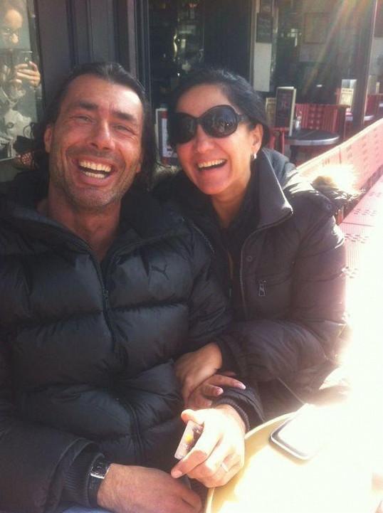 Indián s manželkou Renatou.
