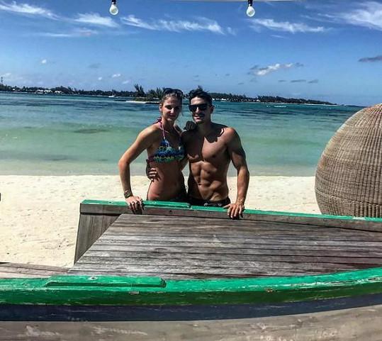Karolína Plíšková si s partnerem Michalem užívala na ostrově Mauricius.