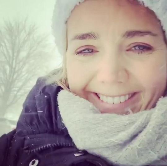 Lucie Vondráčková se ráda chlubí fotkami ze zimní Kanady.