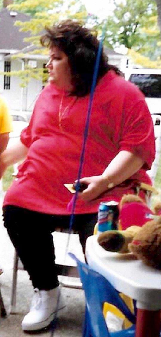 Kelley Gunter vážila téměř 200 kilo.