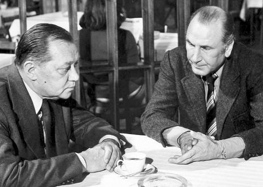 S Rufolfem Hrušínským ve filmu Diagnóza smrti (1979)