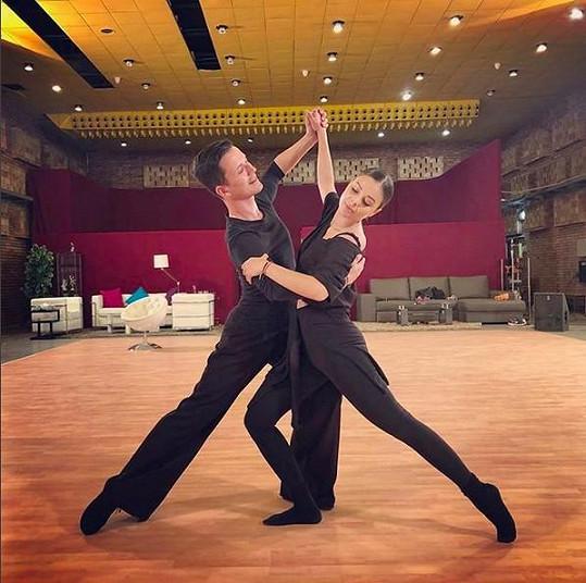 Monika se svým tanečním partnerem Robinem
