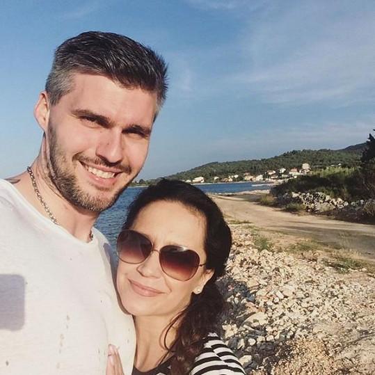 Zpěvačka s Radkem Filipim v Chorvatsku