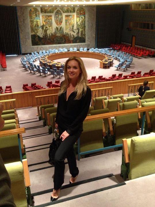 Taťána v New Yorku na akci OSN