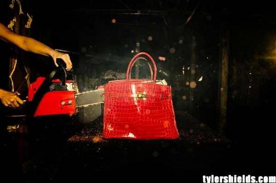 Francesca Eastwod s přítelem Tylerem zničili kabelku Hermès.