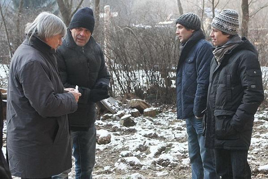 Miroslav Etzler a Pavel Soukup na natáčení.