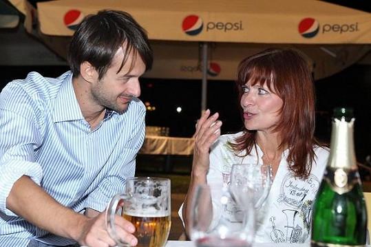 Ljuba Krbová na párty.