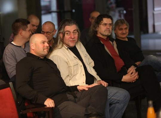 David Uličník, Tomáš Bartůněk, Petr Dopita a Pavel Soukup na zkoušce