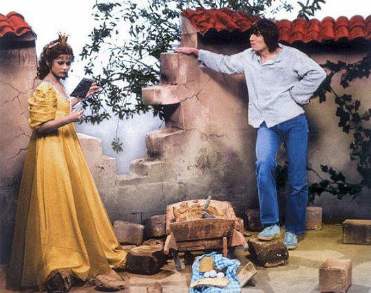 Ivana Andrlová a Jan Čenský v pohádce Princové jsou na draka (1980)