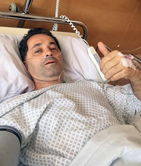 Martin Dejdar v nemocnici