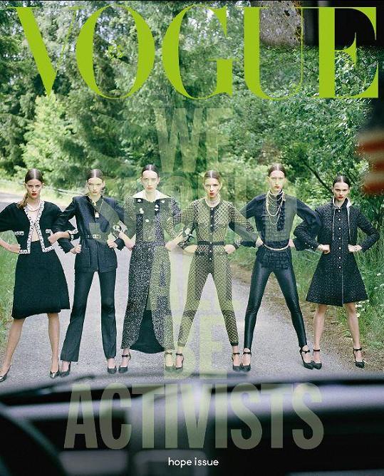 Jedna z obálek zářijového vydání Vogue