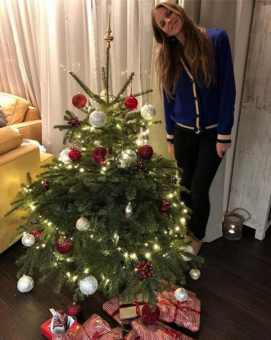Karolína Plíšková oslavila Vánoce už před pár dny.