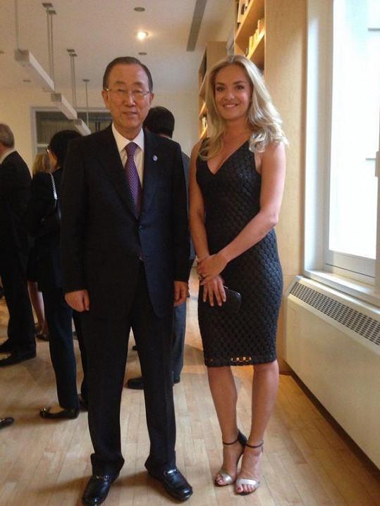 Taťána se v Americe setkala s generálním tajemníkem OSN Ki-Munem.