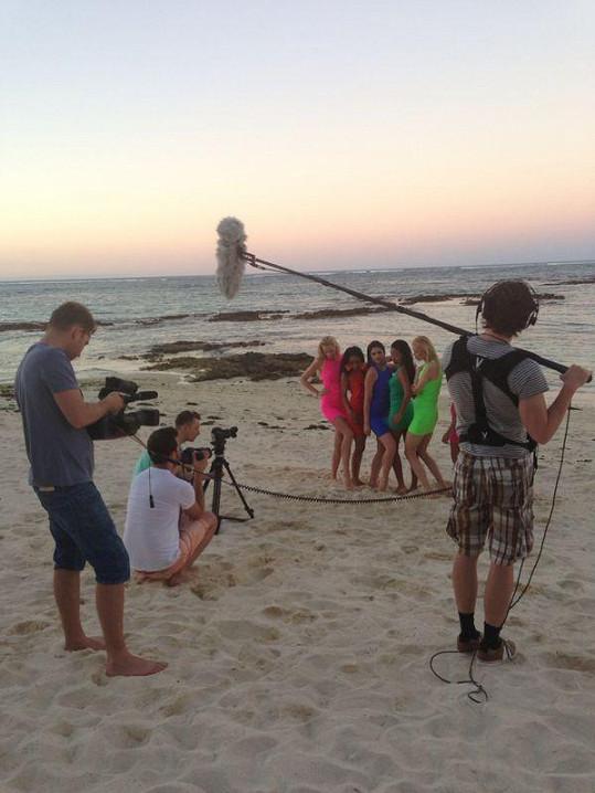 Natáčení na pláži