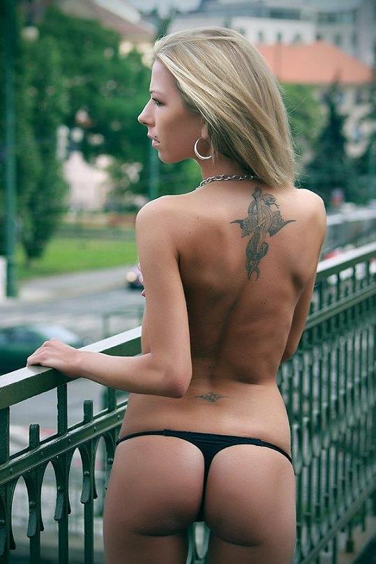 Barbora Novotná má velmi štíhlou postavu.