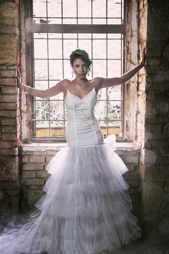 Šaty pro potřeby focení ušila talentovaná Petra Brzková.