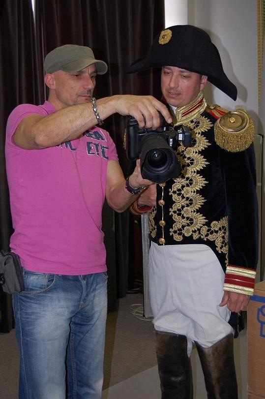 Petr s fotografem Martinem Vobořilem.