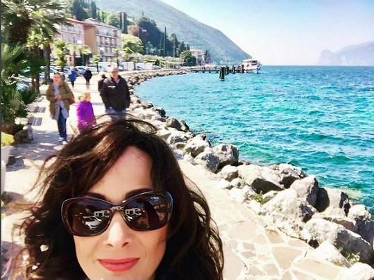 Selfie u jezera Garda