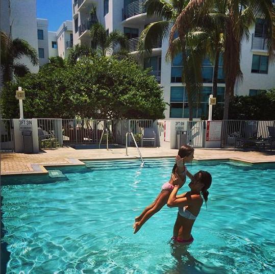 Modelka si s dcerou opět užívají sluníčka ve svém druhém domově na Floridě.