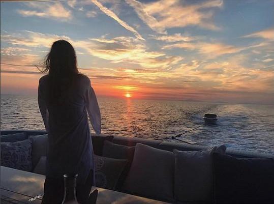 Západ slunce na Capri